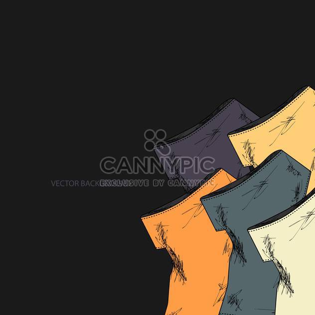 Vektor-schwarzer Hintergrund mit Mode Kleider - Free vector #127774