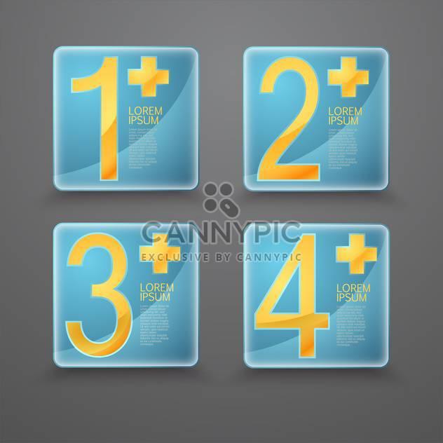Vektor festgelegt auf grauen Hintergrund der blaue Knöpfe mit gelben Zahlen - Kostenloses vector #127804