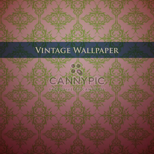 Vintage wallpaper background with floral pattern - Free vector #127894