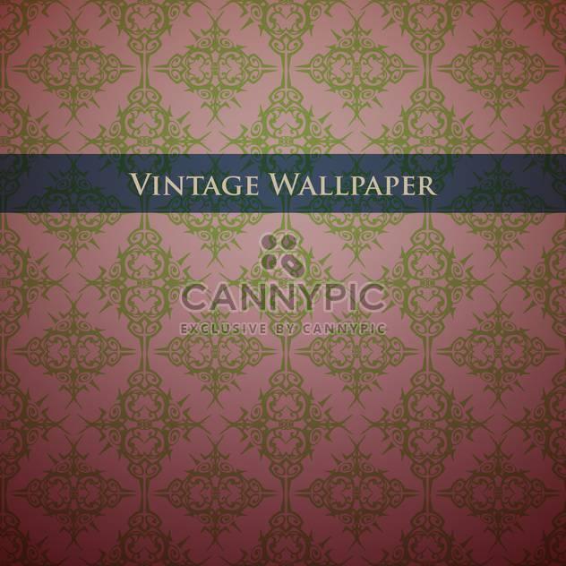 Vintage Tapete-Hintergrund mit Blumenmuster - Free vector #127894