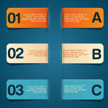 business concept written on three tablets on blue background - бесплатный vector #127924
