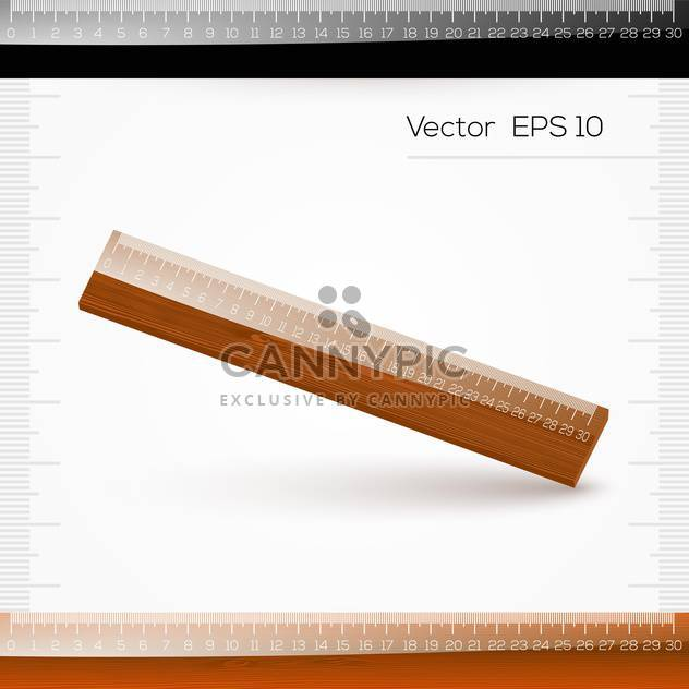 vector illustration of ruler with scale of centimeters on white background - Free vector #127954