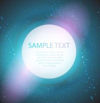 round shaped circle on space background with text place - vector #128034 gratis