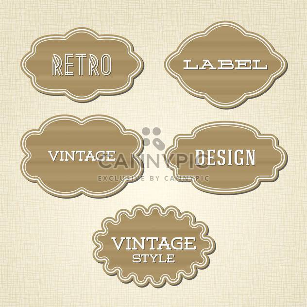 Vector collection of vintage and retro labels - Free vector #128044