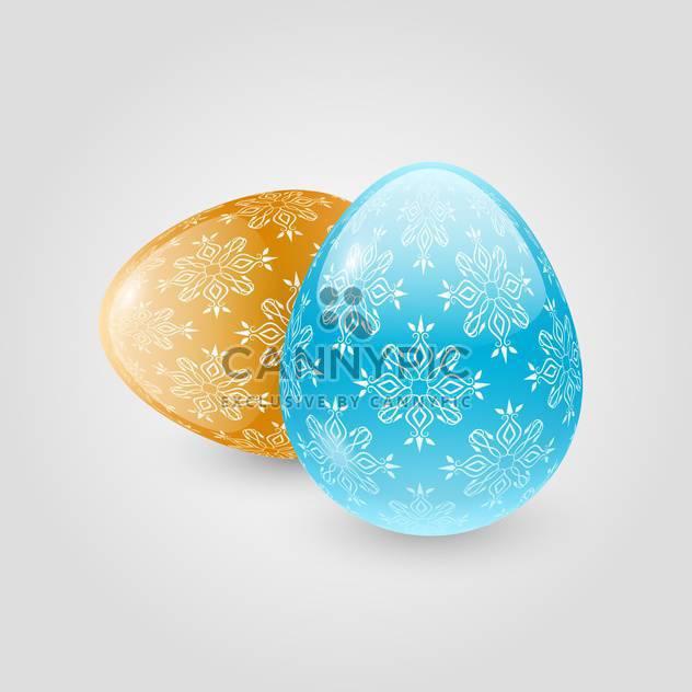 Vektor-Illustration von Ostern Eier auf weißem Hintergrund - Kostenloses vector #128084