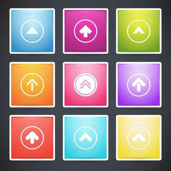 Vector set with different colorful arrows buttons - Free vector #128164
