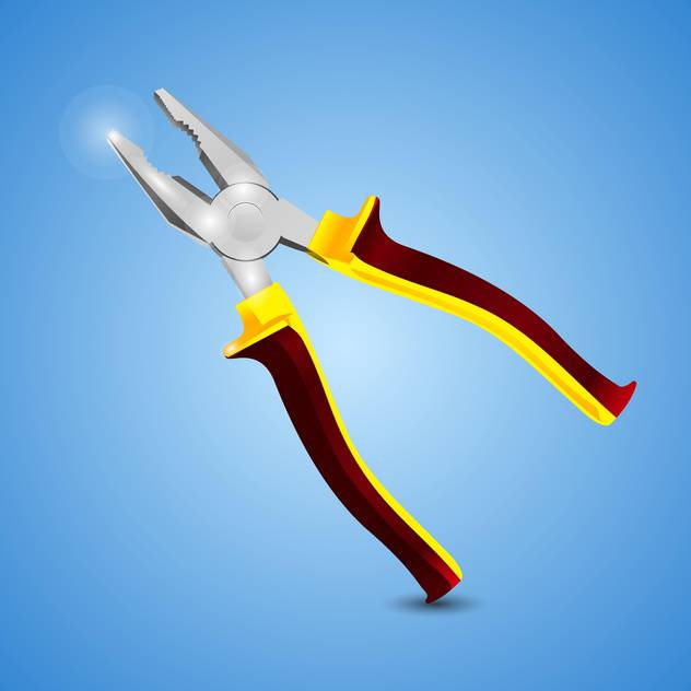Instrument pliers vector illustration, on a blue background - vector #128194 gratis