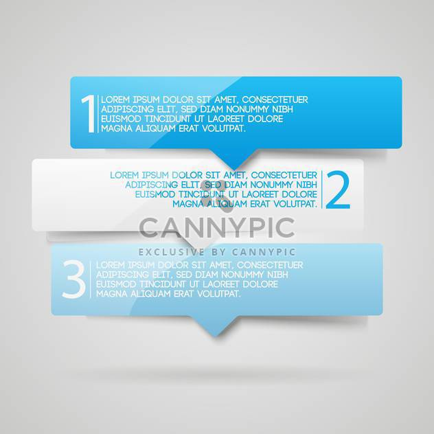 Three numbered web banners background - Free vector #128274