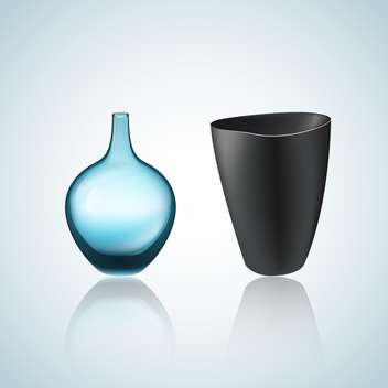 Illustration of vector vase and bowl with shadows - vector gratuit #128284