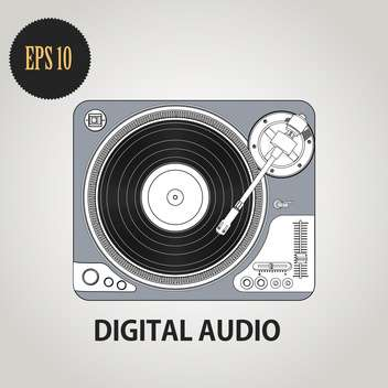 Vector illustration of DJ record player - vector gratuit #128344
