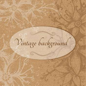 Vintage brown floral background - vector gratuit #128394