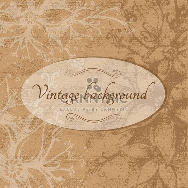 Vintage brown floral background - Free vector #128394
