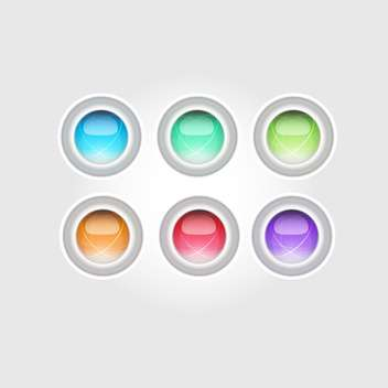 Set of vector glossy buttons - Free vector #128434