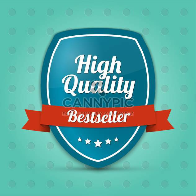 Vector label shield with text high quality bestseller - Free vector #128444