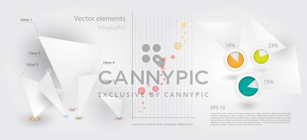 Vector set of Infographic Elements - Free vector #128484