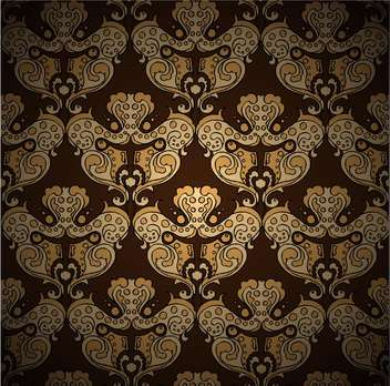 Seamless damask vector pattern - бесплатный vector #128514