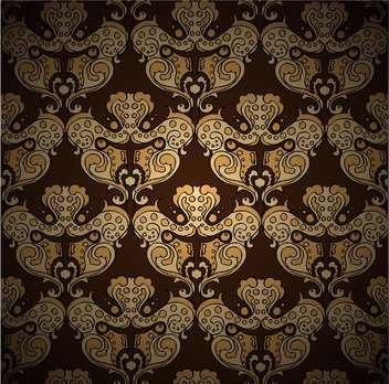 Seamless damask vector pattern - vector gratuit #128514