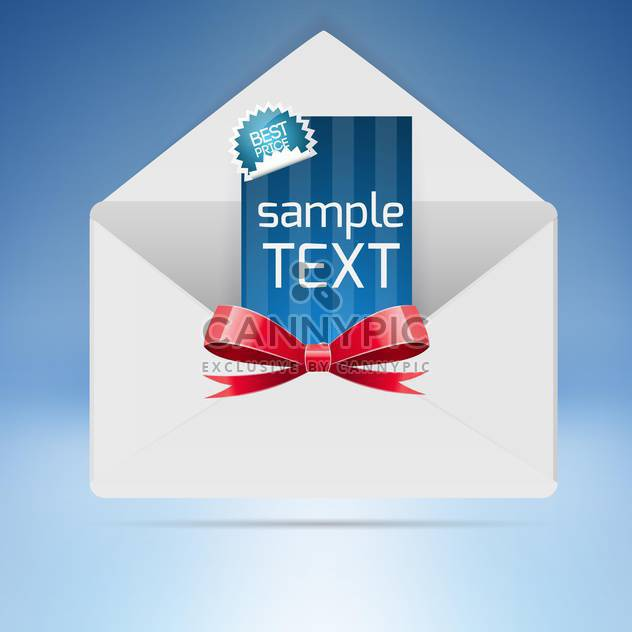 Vector illustration of envelope with invitation card - Free vector #128524
