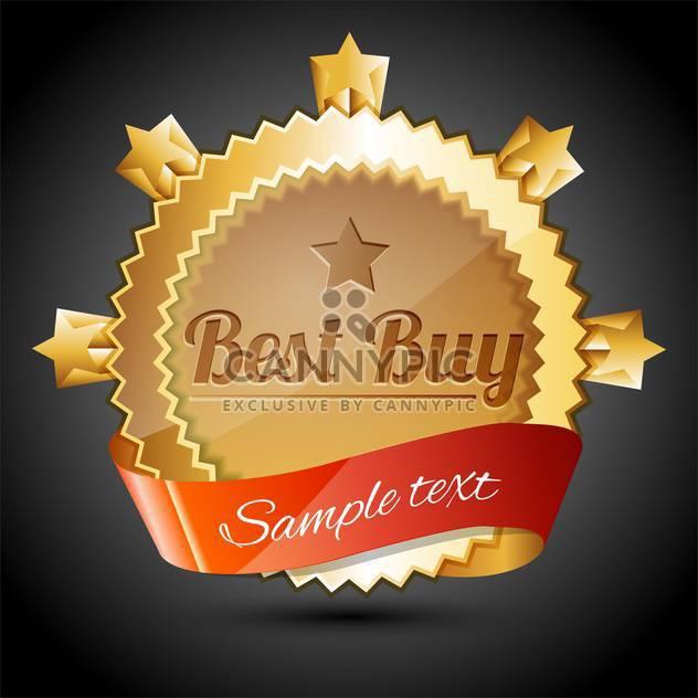 Vector golden sale badge with best buy text - Free vector #128554