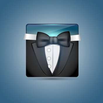 Vector icon of business suit on the blue background - vector #128604 gratis