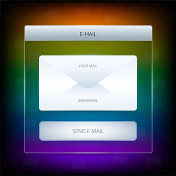 Vector illustration of mail icon graphics button - Kostenloses vector #128614