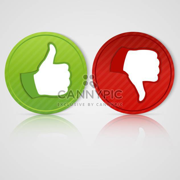 Vector Social Media Sticker with Like and Unlike Icon isolated on white - Free vector #128664