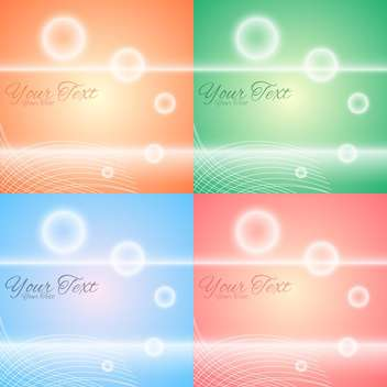 Vector set of colorful abstract backgrounds - Free vector #128704