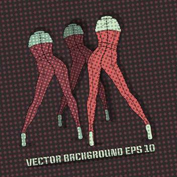 Vector background with female legs. - vector #128724 gratis