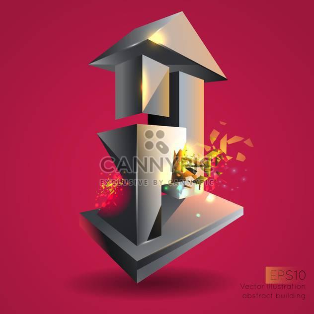 Vektor-Illustration, abstrakte Gebäude. - Kostenloses vector #128734