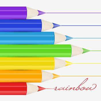 Vector background with colorful pencils - vector gratuit #128764