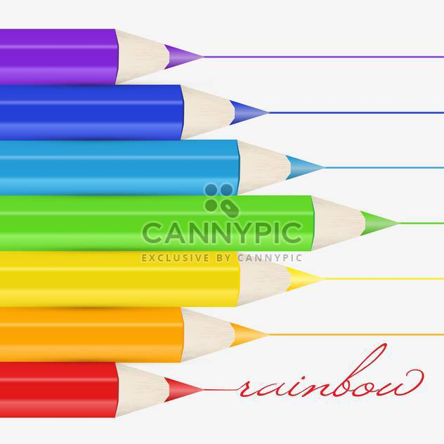 Vector background with colorful pencils - Free vector #128764