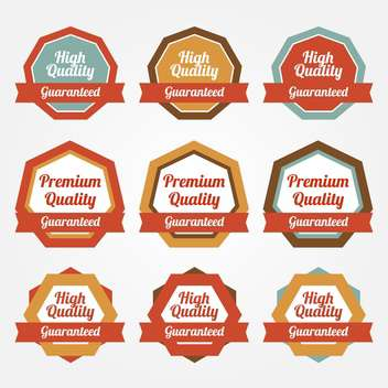Set of vector sale stickers, badges, labels - vector gratuit #128804