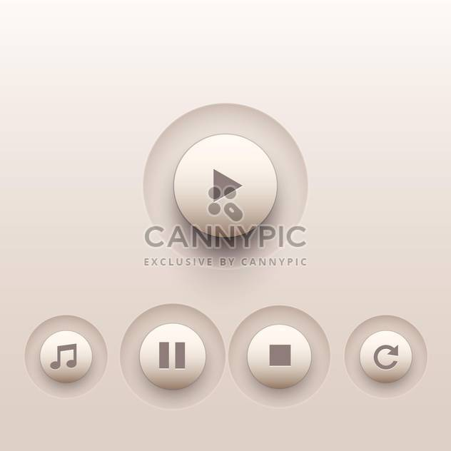 Vector set of media buttons - Free vector #128874