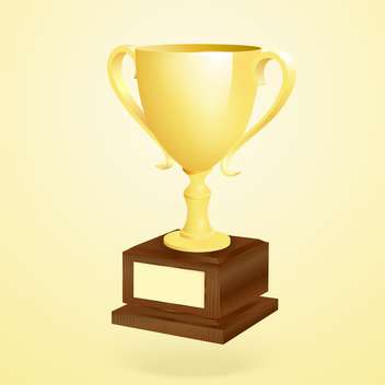 Vector illustration of golden trophy on golden background - Free vector #128914