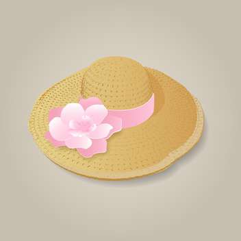 Vector illustration of fashion woman's hat - vector gratuit #128934