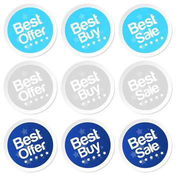 best buy stickers vector set - vector gratuit #128974