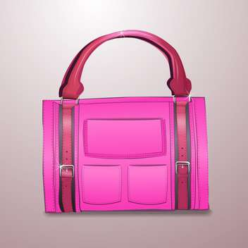 illustration of pink leather briefcase - vector #128984 gratis