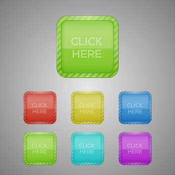 set of colorful buttons Illustration - Free vector #128994