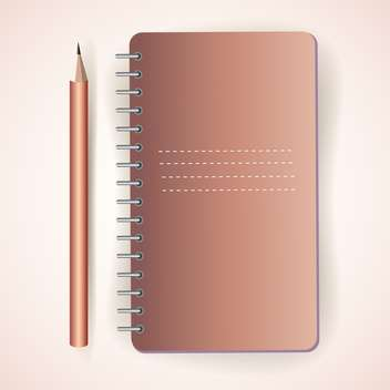 vector pencil with notepad texture - vector #129014 gratis