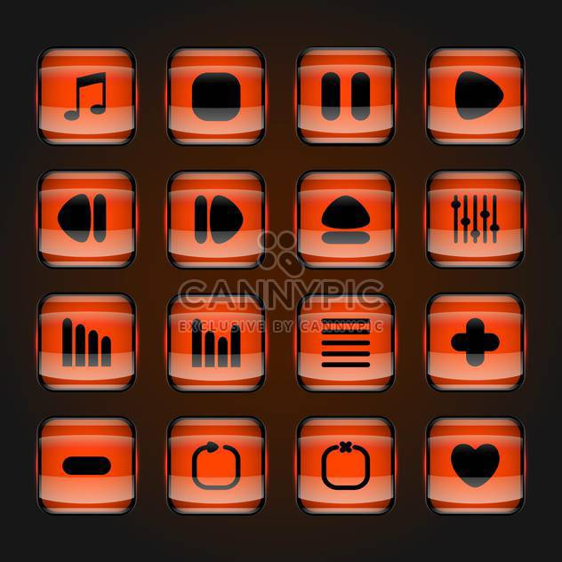 media web vector buttons set - Free vector #129074