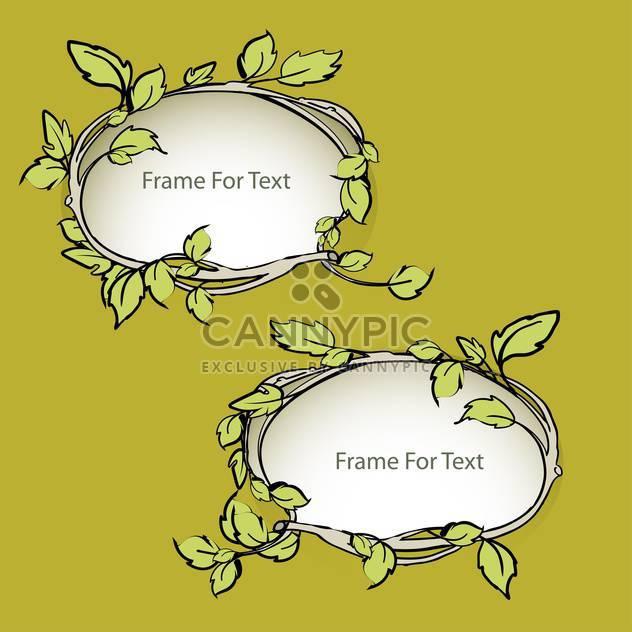 Vektor-floralen Rahmen-Satz - Kostenloses vector #129084