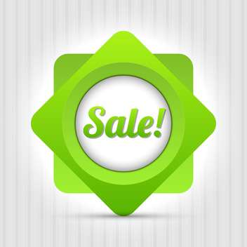 sale green vector label - Free vector #129114