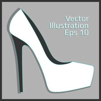 fashion female leather heel - vector gratuit #129144