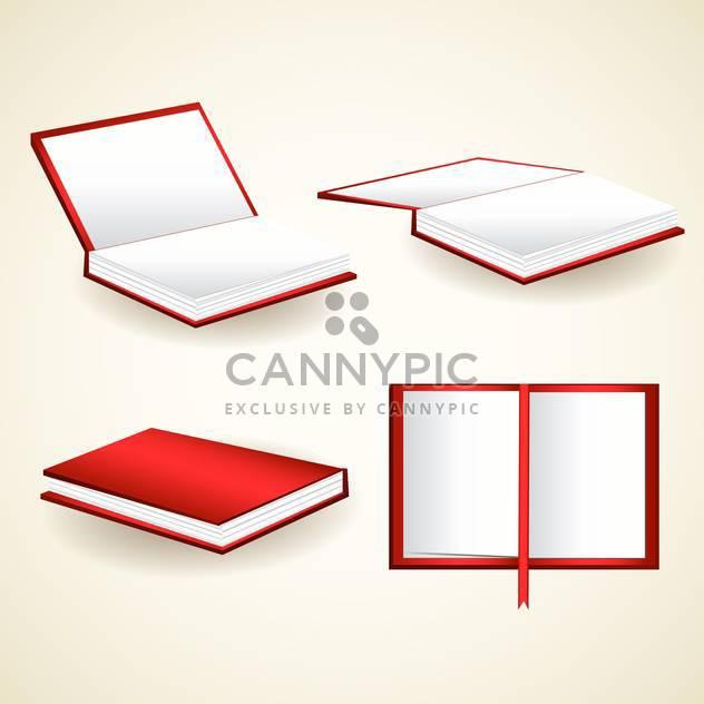 Vektor-Satz Rote Bücher Illustration - Free vector #129204