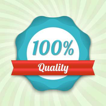 vector hundred guarantee badge - Free vector #129234