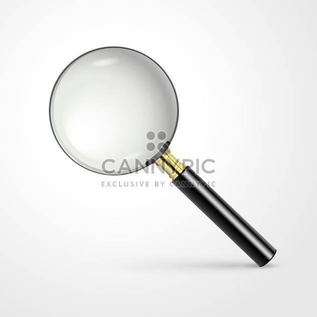realistic vector magnifying glass - Free vector #129254