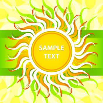 Vector abstract spring background with colorful sun - бесплатный vector #129324