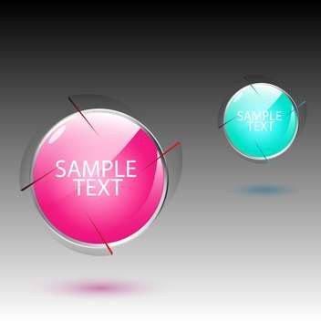 Vector set of colorful balls icons on gray background - vector #129394 gratis