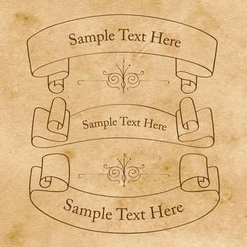 Vector vintage banners on paper background - vector gratuit #129454