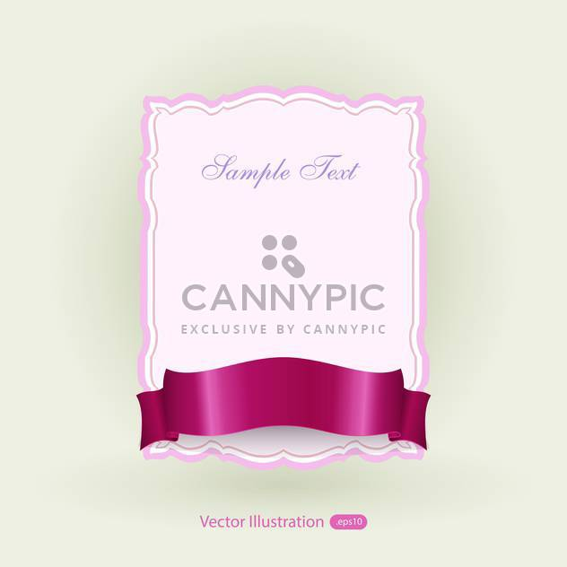 Vektor Rosa Banner mit roter Schleife - Free vector #129474